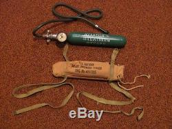 WWII US Army Air Force AAF Type H-1 emergency oxygen cylinder bailout bottle