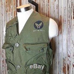 WWII US Army Air Force Survival Emergency Sustenance Vest Type C-1 Pilot Holster