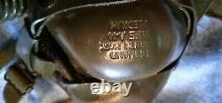 WWII US Army Air Force Type A-11 Leather Flying Helmet w O2 mask Size medium
