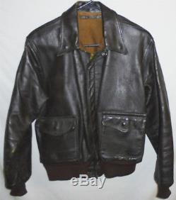 WWII -US Army Air Force- Vintage A2 Pilots 42 Leather Uniform Flight Coat/Jacket