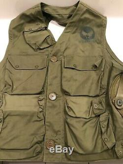 WWII US Army Air Forces Pilots Emergency Sustenance Type C-1 Flight Vest
