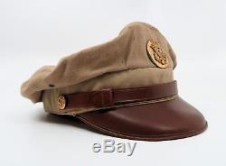 WWII US enlisted visor cap uniform hat Army Air Force crusher Bancroft Flighter