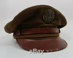 WWII US enlisted visor cap uniform hat Army Air Force crusher soldier corp USAF