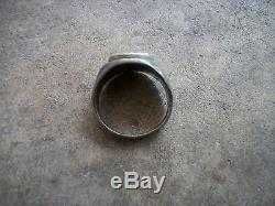 WWII USA US Army Air Force pilot wings sterling ring 10