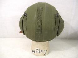 WWII USAAF Army Air Force M4A2 Flak Helmet Complete withChin Strap Unissued