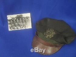 WWII WW2 US 8th Army Air Force Pilots Crusher Cap Flighter by Bancroft with Photo