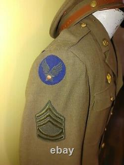 WWII uniform grouping China Burma India bullion US ARMY AIR FORCE STERLING IDed