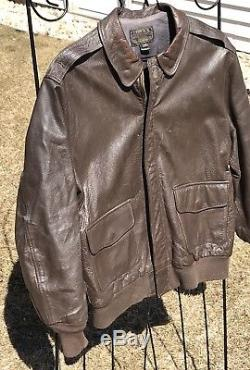 Willis & Geiger Type A-2 US Army Air Force Leather Flight Bomber Jacket Size 42