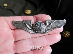 World War 2 Coat US Army Air Corps 5th Air Force & CBI Patch Navigator Wings