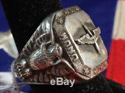 World War 2 WW2 WWII United States Army Air Force USAAF Sterling Silver Ring 17