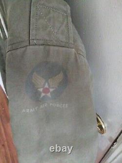 World War II WW2 Army Air Force B-11 Bomber Flight Parka Jacket Size 38