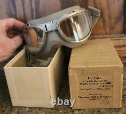 Ww II Us Army Air Force Usaaf Unissued An-6530 Flight Goggles With Original Box