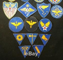 Ww2 U. S. Army Air Force Patches 28 Original Cut-edge