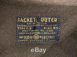 Ww2 Us Army Air Force Outer Flying Jacket Type F2 Electriclly Heated Flight Suit