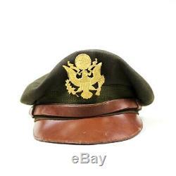 Ww2 Us Army Air Forces Usaaf Officer Dress Cap Visor Hat Od Wool Gabardine
