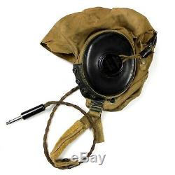 Ww2 Us Army Air Forces Usaaf Summer Flight Helmet Type A-10a Cotton Cap Medium
