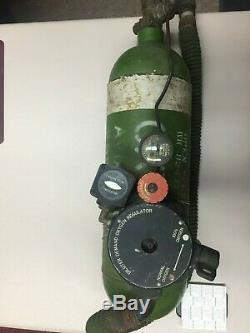 Ww2 Us Army Airforce Aviators Oxygen Tank, Gauges And Breathing Mask
