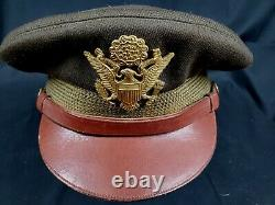 Wwii Army Air Force Officer's Original Crusher 7 1/4