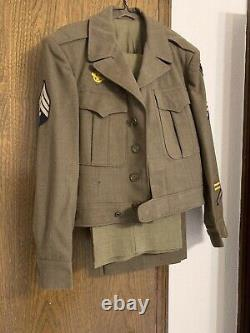 Wwii Us Army Air Force European Theater Ww2 Ike Jacket Uniform Ww2 USA