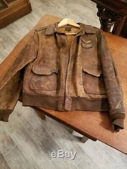 Wwii Us Army Air Forces Usaaf Pilot Leather Flight Jacket Type A-2
