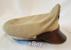 10 Ww2 Us Army Aircorps Officiers De L'armée De L'air Militaire Kaki Concasseur Visor Hat Chapeau