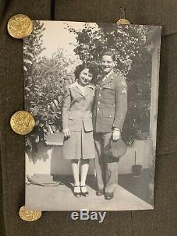 15ème Armée De L'air Américaine De La Seconde Guerre Mondiale Pantalon De Veste Uniforme De La Seconde Guerre Mondiale Patch Pin Bar Vtg