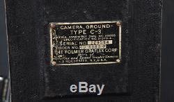 1939 Ww2 4x5 C-3 Us Army Air Forces Militaires Graflex Vitesse Graphique + Case