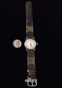 1940 Elgin Militaire A-11 Ww2 Montre-bracelet Armée / Armée De L'air 685 18 Jewel