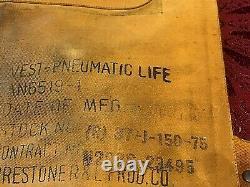 1944 Daté Us Army Air Force Usaaf Type B4 Life Ww2 Pilot Preserver