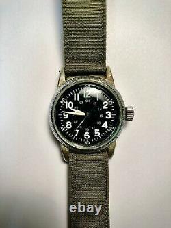 1944 Elgin Military A-11 Af Us Army Af45 Air Force Ww2 Original Dial 539 Runs
