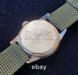1944 Elgin Military A-11 Us Army Af43 Air Force Ww2 Hack Professionnellement Desservi