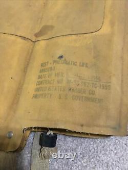 1944 Us Army Air Force B4 Type De La Seconde Guerre Mondiale Pilote Mae West Life Preserver Paratrooper