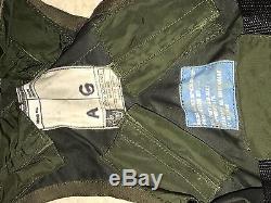 1979 Cru Militaire Militaire De L'armée De L'air Pilote Gilet De Sauvetage Flottabilité Armée De Béret Vert