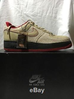 2007 Nike Air Force 1 Premium'07 Tweed Army Vert Rouge 315180-222 Taille 9