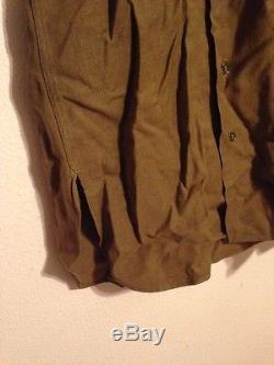 3 Pièce Lot Wwii Usaaf Army Air Forces Officer Veste Chemise Pantalon Gabardine