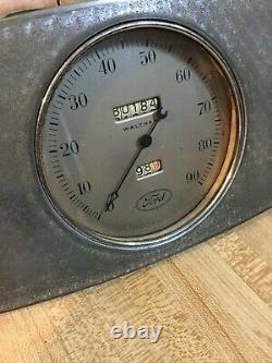 33 34 1933 1934 Ford Instrument Gauge Panel Speedo Amp (ruff) Fuel Gas Trog Scta
