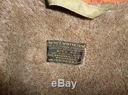 40 Vtg B-11 Veste De La Force Aérienne Alpaca Mouton Militaire Wwii Us Army Flight Coat
