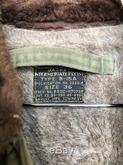 40s Vintage Ww2 Us Army Air Force Flight Jacket B15 A B15 Militaire A