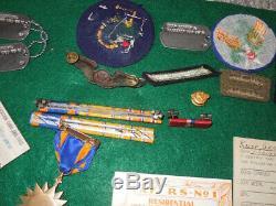 5ème Armée Américaine 90ème Groupe De Bombardement Jolly Roger Group Journal De Combat Médailles