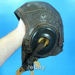 7pc Lot Casque De Cuir Pilot Gear Militaire Us Wwii Military Army Air Force