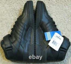 Adidas Originals Forum MID Shoes 2008 Triple All Black Raffiné High Top Hommes 10