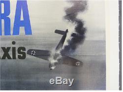 Affiche Des Forces Aériennes De L'armée Américaine De La Deuxième Guerre Mondiale Airacobra Poison À L'axe Bell P-39 Dogfight
