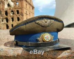 Air Force Cap 1940 Rkka Stalingrad Ww2 L'armée Rouge Visière D 'origine