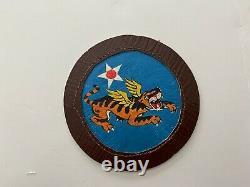 Air Force Pk675 Originale Ww2 Armée Américaine 14e Flying Tigers Peint __gvirt_np_nn_nnps<__ Wc10 En Cuir