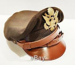Air Force Rare Seconde Guerre Mondiale Usaaf De L'armée Américaine Crusher Cap Says Commandant Styled Par Willis 7