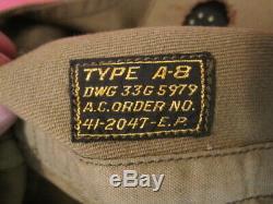 Air Force Seconde Guerre Mondiale L'armée Américaine Aaf Type A-8 Casque Volant Withgoggles 1941 Xlnt A Identifié