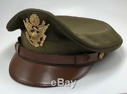 Air Force Seconde Guerre Mondiale L'armée Américaine Bancroft Zephyr Crusher Cap Crush Service Chapeau 7-3 / 8