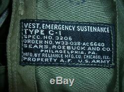 Air Force Seconde Guerre Mondiale L'armée Américaine De Survie D'urgence Subsistance Vest Type De Contenu Pilote C-1