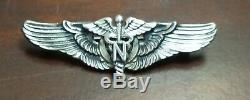Air Force Seconde Guerre Mondiale L'armée Américaine Usaaf Vol Nurse Ailes Pin-retour Meyer 2 Pouces Sterling