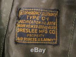 Air Force Seconde Guerre Mondiale Usaaf Armée De Type C-1 Gilet D'urgence Subsistance Withholster Rare # 1